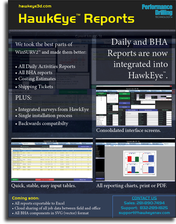 HawkEye™ Features Overview - Performance Drilling Technology